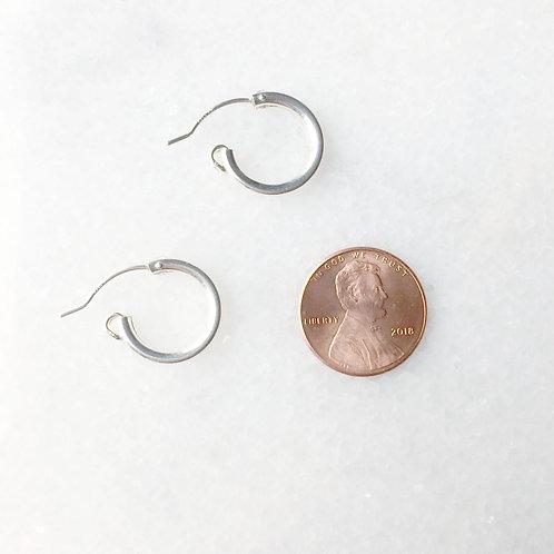 "Tiny 1/2"" Sterling Silver Huggie Earrings"