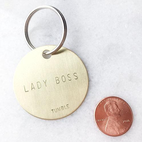 LADY BOSS Brass Key Fob