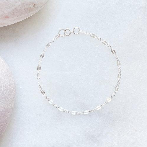 Sterling Silver Decorative Chain Bracelet