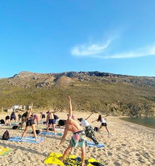 Pilates Session at Vagia Beach