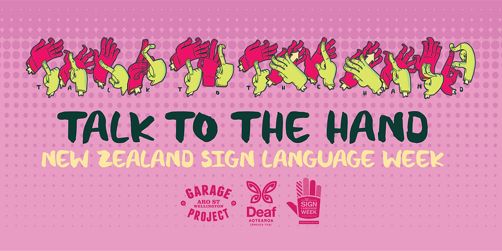 """""""Talk To The Hand"""" NZSL Week Beer Launch 2020"""
