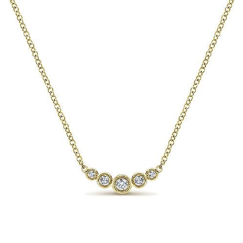 Gabriel & Co. 14k Yellow Indulgence Gold Bar Necklace