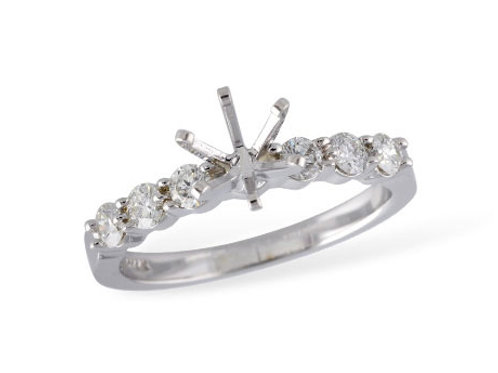 Allison Kaufman 14k White Gold Engagement Ring