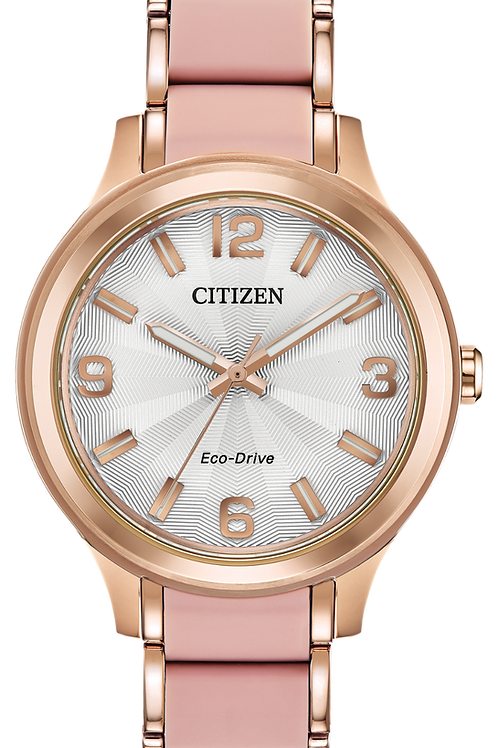 Lds Rose Tone Drive Watch