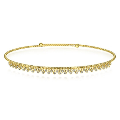Yellow Gold Diamond Choker Necklace