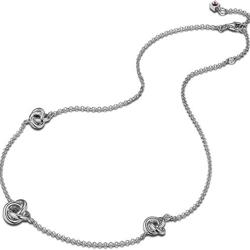 ELLE Jewelry TREFOIL Sterling Silver Necklace