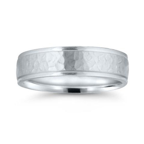 Novell 14k White Gold Comfort Fit Wedding Ring