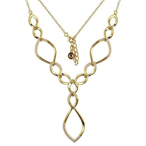 ELLE Jewelry 5th Avenue Gold Pave Links Necklace
