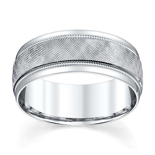 Novell 14K White Gold Wedding Band