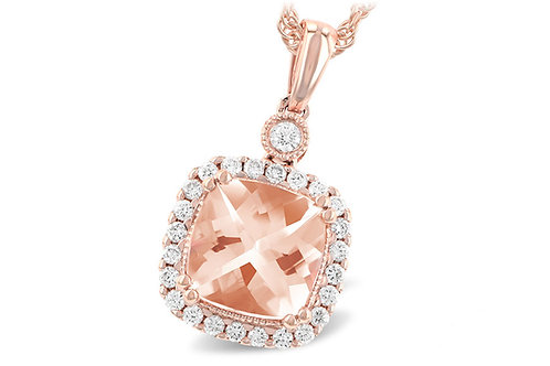 Allison Kaufman Morganite Rose Gold Pendant