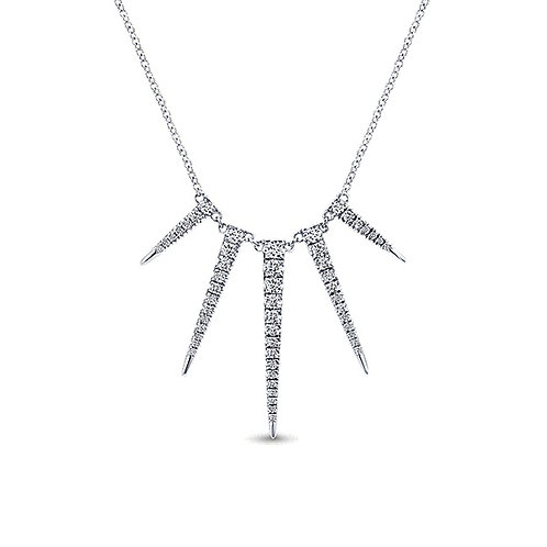 Gabriel & Co. 14k White Gold Kaslique Fashion Necklace
