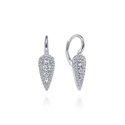 White Gold Diamond Teardrop Earrings