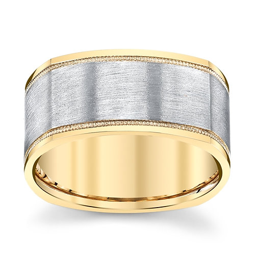 Novell 14K Two Tone Wedding Band