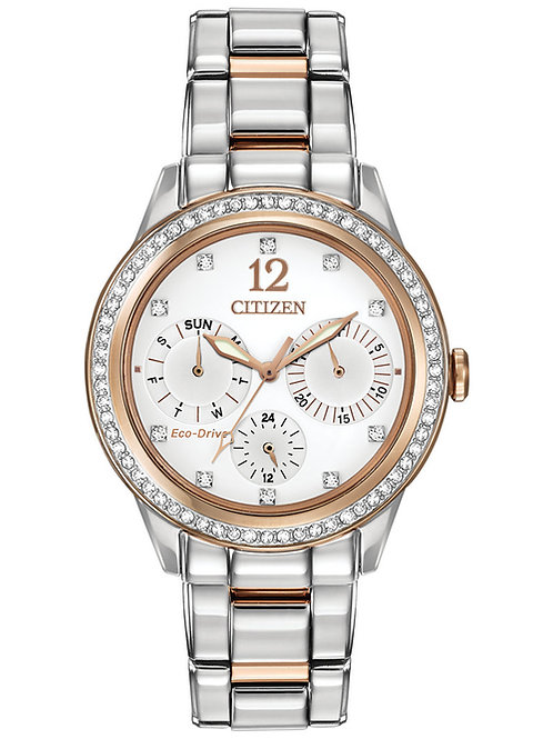 Citizen Women's Chronograph Eco-Drive Silhouette Crystal Two-Tone SS Watch