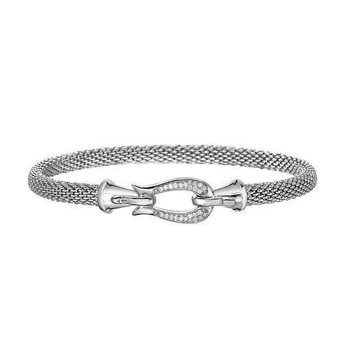 Silver Popcorn Diamond Bracelet