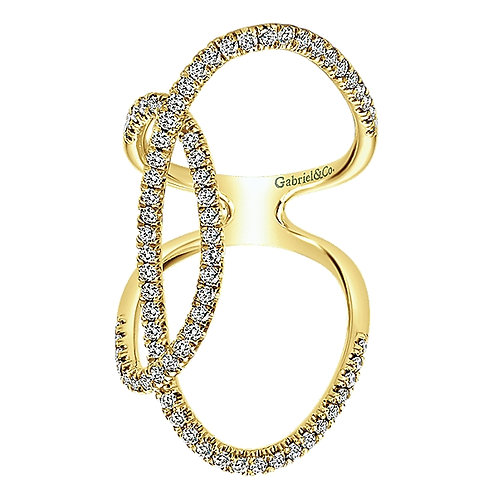 Gabriel & Co. 14k Gold Lusso Diamond Fashion Ladies' Ring