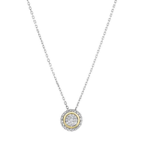 Silver & Yellow Gold Diamond Necklace