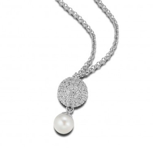 ELLE Jewelry Pretty in Pearls Sterling Silver Necklace