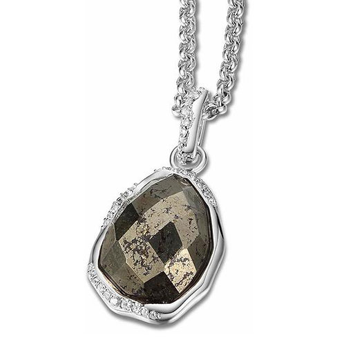 ELLE Jewelry Eclipse Sterling Silver Pyrite Necklace