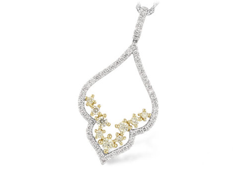 Allison Kaufman 14k Gold Yellow and Colorless Diamond Necklace
