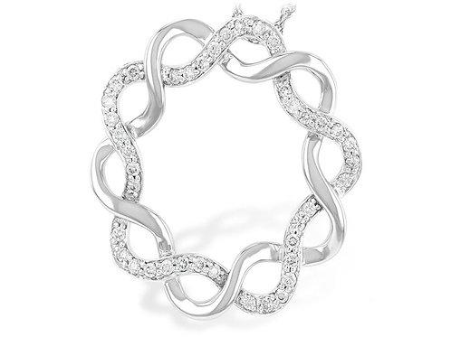 Allison Kaufman 14k White Gold Diamond Inifinity Pendant