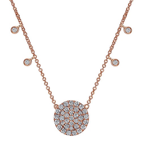 Gabriel & Co. 14k Rose Gold Silk Fashion Necklace