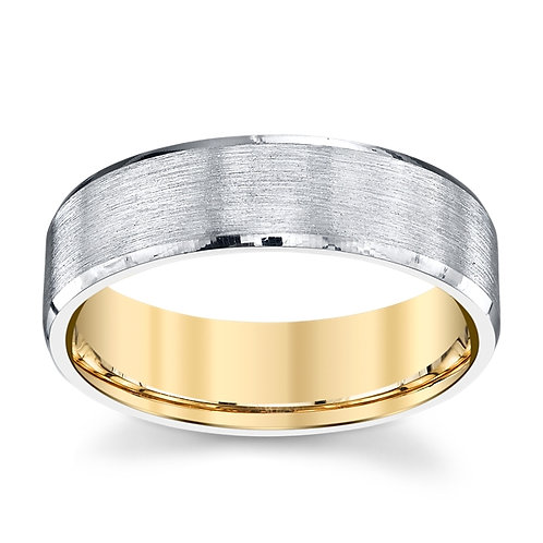 Novell 18k Two Tone Wedding Ring