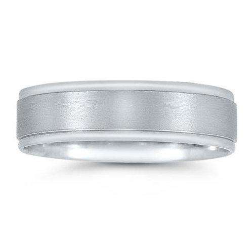 Novell 14k White Gold Comfort Fit Wedding Ring