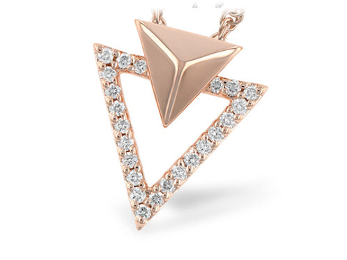 Allison Kaufman 14k Rose Gold and Diamond Necklace