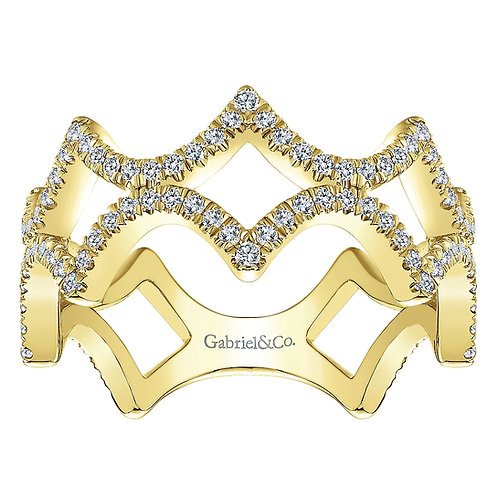 Gabriel & Co. 14k Gold Diamond Stackable Ring