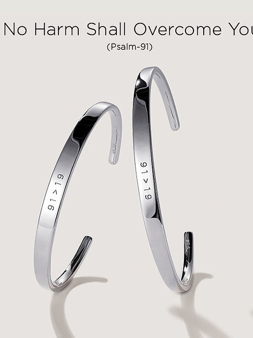 91>19 Silver Covid Bracelet
