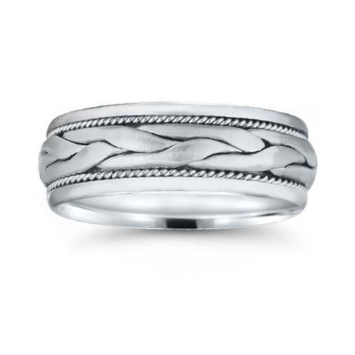 Novell 14k White Gold Comfort Fit Braided Wedding Ring