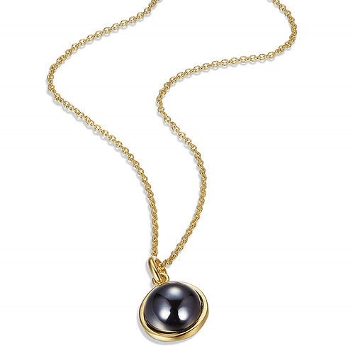 ELLE Jewelry GRAVITY Hematite Two Tone Necklace