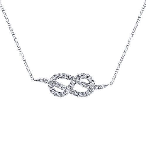 Gabriel & Co. 14k White Gold Eternal Love Fashion Necklace