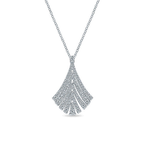Gabriel & Co. 14k White Gold Art Moderne Fashion Necklace