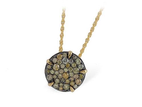 Allison Kaufman 14k Gold and Multi-Colored Diamond Necklace