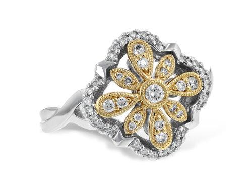 Allison Kaufman 14k Two Tone Diamond Fashion Ring