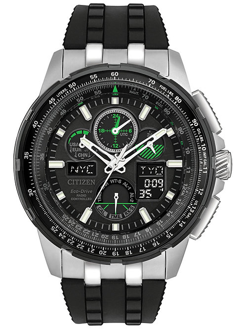 Citizen Eco-Drive Men's Analog-Digital Skyhawk A-T Black Strap Watch