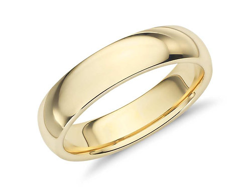Novell 18k Yellow Gold Comfort Fit Wedding Ring