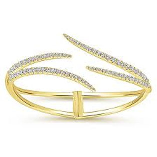 Gabriel & Co. 14k Yellow Gold Kaslique Bangle Bracelet