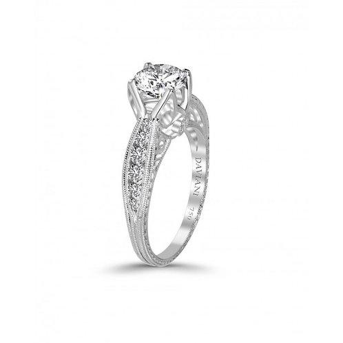 Daviani 19k White Gold Engagement Ring