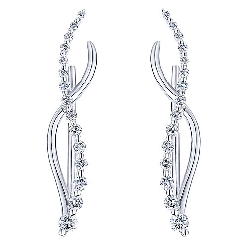 Gabriel & Co. 14k White Gold Earcuffs  Earrings