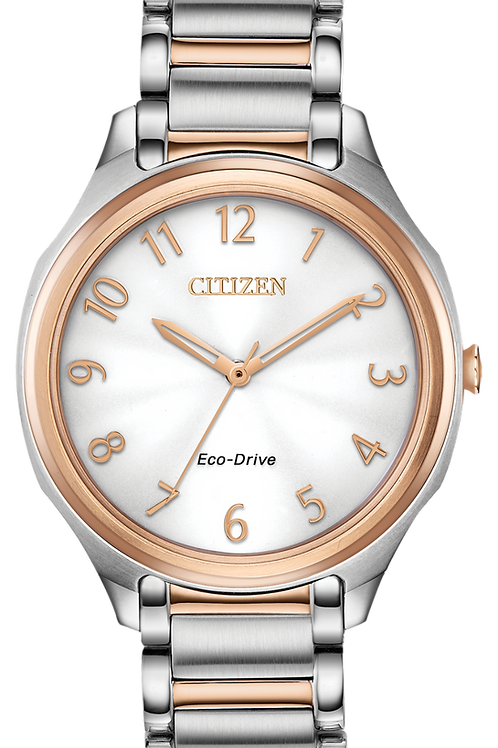 Lds Two-tone Drive Watch
