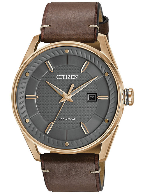 Citizen Eco-Drive Men's Brown Leather Strap Watch