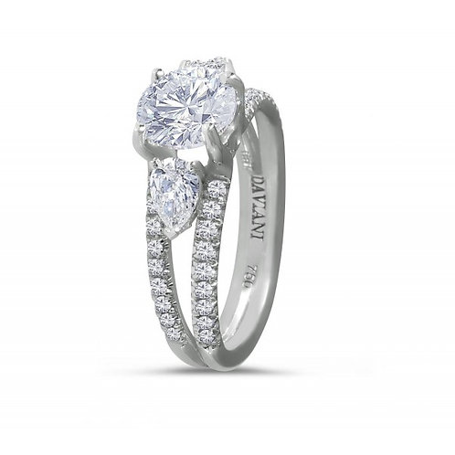Daviani 19k White Gold Engagement Ring