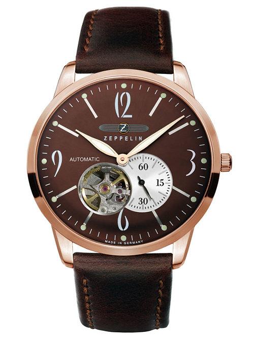 Zeppelin Flatline Automatic Open Heart Watch
