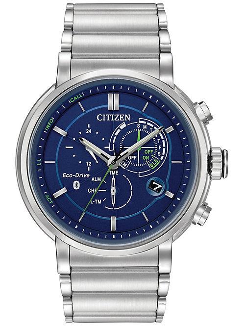 Citizen Eco-Drive Men's Chronograph Proximity SS Bracelet Smartwatch