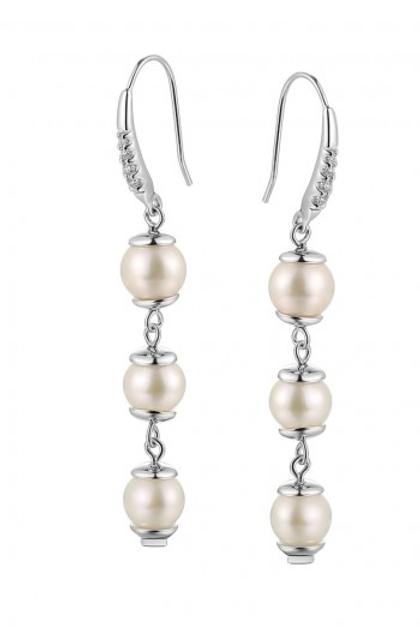 ELLE Jewelry Pretty in Pearls Sterling Silver Earrings