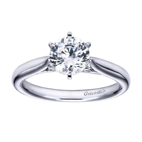 Gabriel & Co. Cassie 14k White Gold Round Solitaire Engagement Ring