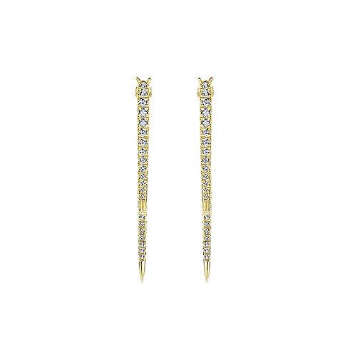 Gabriel & Co. 14k Yellow Gold Drop  Earrings